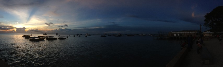 Panorama shot of the Forodhani Bay